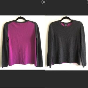 LORD & TAYLOR Cashmere Sweater Purple Grey M